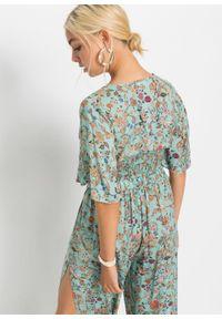 Bluzka shirtowa bonprix jasnoniebieski w kwiaty. Kolor: niebieski. Wzór: kwiaty