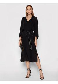 Marella Sukienka codzienna Caffe 32260118 Czarny Regular Fit. Okazja: na co dzień. Kolor: czarny. Typ sukienki: proste. Styl: casual