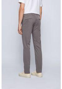 Szare spodnie BOSS gładkie