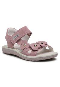 Różowe sandały Primigi z aplikacjami, casualowe