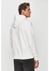Biała bluza nierozpinana Calvin Klein Jeans na co dzień, casualowa, z kapturem