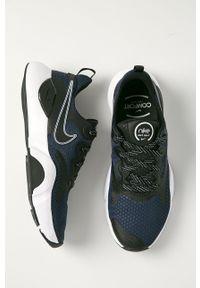 Niebieskie buty sportowe Nike z cholewką, na sznurówki