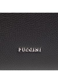 Czarna torebka klasyczna Puccini skórzana