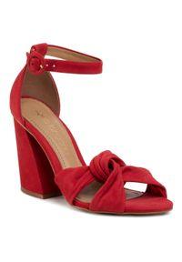 Czerwone sandały Eva Longoria klasyczne