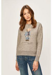 Szara bluza Polo Ralph Lauren polo, z nadrukiem
