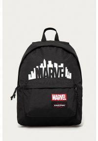 Eastpak - Plecak x Marvel. Kolor: czarny. Materiał: poliester. Wzór: motyw z bajki