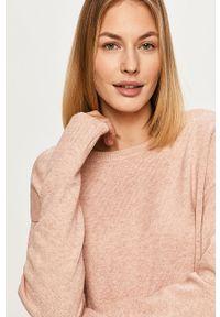 Różowy sweter Vila długi, z długim rękawem #5