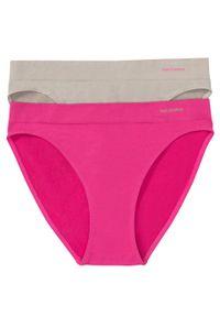 """Figi bezszwowe Feel Comfort (2 pary) bonprix różowy """"pinklady"""" + brunatny. Kolor: różowy"""
