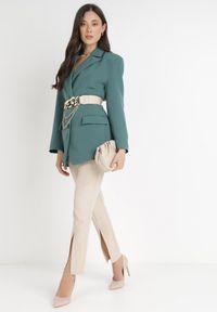 Born2be - Zielona Marynarka Pentherine. Kolor: zielony. Długość: długie. Styl: wizytowy, elegancki #4