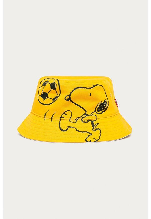 Żółty kapelusz Levi's® z nadrukiem