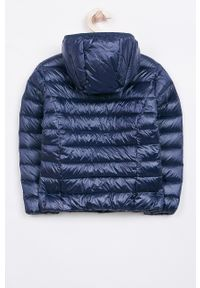 Niebieska kurtka Guess Jeans casualowa, z kapturem, na co dzień