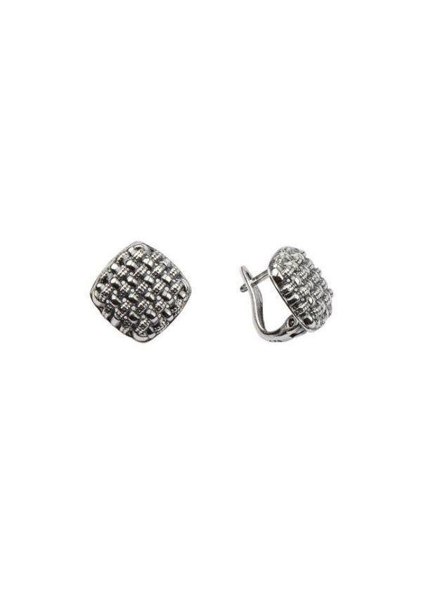 Polcarat Design - Kolczyki srebrne K3 1704. Materiał: srebrne. Kolor: srebrny