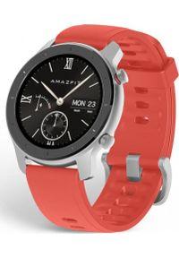 AMAZFIT - Smartwatch Amazfit GTR 42mm Czerwony (A1910RD). Rodzaj zegarka: smartwatch. Kolor: czerwony