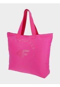 Różowa torba plażowa 4f na ramię