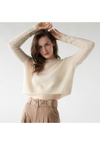 Kremowy sweter Sinsay plus size