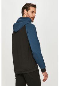 Czarna bluza nierozpinana Guess gładkie, raglanowy rękaw, casualowa, na co dzień