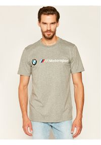 Puma T-Shirt BMW Motorsport Logo Tee 595369 Szary Regular Fit. Kolor: szary