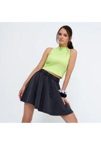 House - Spódnica mini z elastyczną talią - Czarny. Kolor: czarny