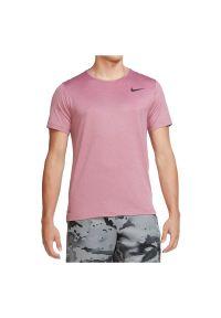 Koszulka męska treningowa Nike Pro CJ4611. Materiał: poliester, skóra, materiał. Długość rękawa: krótki rękaw. Technologia: Dri-Fit (Nike). Długość: krótkie. Sport: fitness