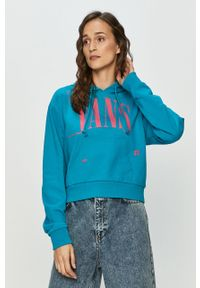Niebieska bluza Vans z nadrukiem, z kapturem
