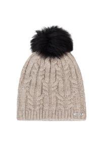 Beżowa czapka zimowa salomon