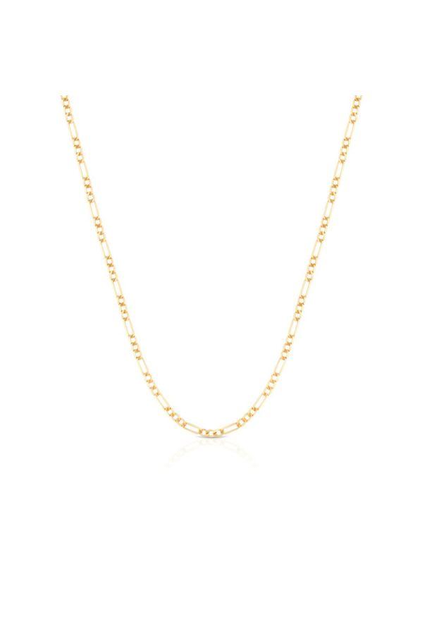 W.KRUK Wspaniały Złoty Łańcuszek - złoto 585 - ZVI/LF01. Materiał: złote. Kolor: złoty. Wzór: ze splotem, ażurowy, aplikacja