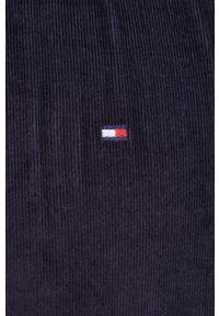 TOMMY HILFIGER - Tommy Hilfiger - Koszula sztruksowa. Typ kołnierza: button down. Kolor: niebieski. Materiał: sztruks. Długość rękawa: długi rękaw. Długość: długie. Wzór: gładki