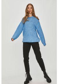 Niebieski sweter Answear Lab na co dzień, długi, z długim rękawem, wakacyjny