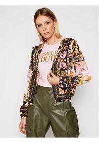 Kurtka przejściowa Versace Jeans Couture w kolorowe wzory