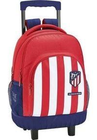 Atletico Torba szkolna z kółkami Compact Atltico Madrid Niebieski Biały Czerwony. Kolor: niebieski, biały, wielokolorowy, czerwony