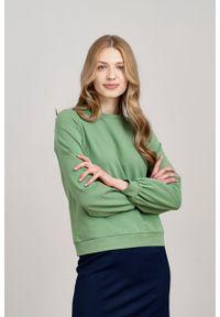 Marie Zélie - Bluza Molly zieleń wiosenna. Materiał: bawełna, dzianina, elastan. Długość rękawa: długi rękaw. Długość: długie. Sezon: wiosna. Styl: sportowy