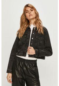 Vero Moda - Kurtka jeansowa. Okazja: na co dzień. Kolor: czarny. Materiał: jeans. Styl: casual