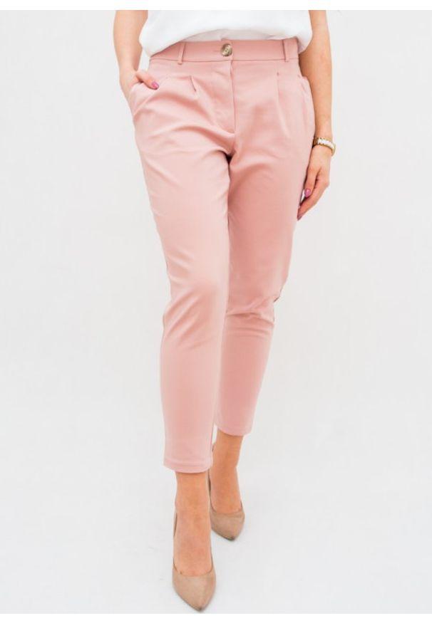 Różowe spodnie Fanaberia.com eleganckie