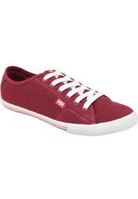 Czerwone buty sportowe Helly Hansen z cholewką, w kolorowe wzory
