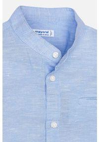 Niebieska koszula Mayoral na co dzień, krótka, casualowa