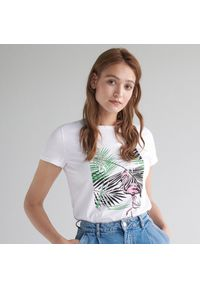 T-shirt Mohito na co dzień, casualowy, z nadrukiem