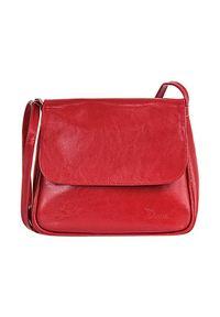 Torebka skórzana listonoszka DAN-A T225 czerwona. Kolor: czerwony. Materiał: skórzane