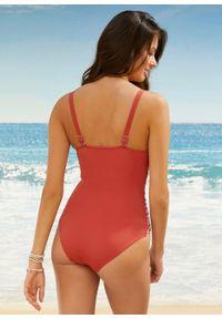 Czerwony strój kąpielowy jednoczęściowy bonprix