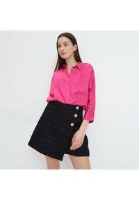 Mohito - Wiskozowa koszula - Fioletowy. Kolor: fioletowy. Materiał: wiskoza