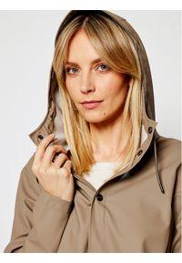 Brązowa kurtka przeciwdeszczowa Rains na co dzień, casualowa