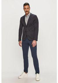 Calvin Klein Jeans - Koszula. Typ kołnierza: kołnierzyk klasyczny. Kolor: szary. Materiał: tkanina. Wzór: gładki. Styl: klasyczny