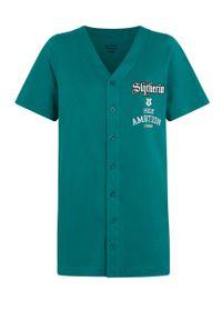 Zielona piżama Undiz z nadrukiem, krótka