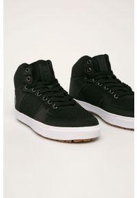 Czarne sneakersy Big-Star z cholewką, na sznurówki, z okrągłym noskiem