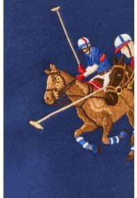 Niebieska bluza nierozpinana Polo Ralph Lauren z aplikacjami, casualowa, polo
