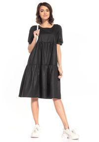 Czarna sukienka Tessita midi