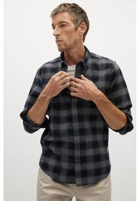 Mango Man - Koszula CLAUDE. Okazja: na co dzień. Typ kołnierza: button down. Kolor: szary. Materiał: tkanina. Długość rękawa: długi rękaw. Długość: długie. Styl: casual