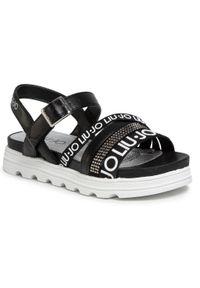Czarne sandały Liu Jo na co dzień, casualowe
