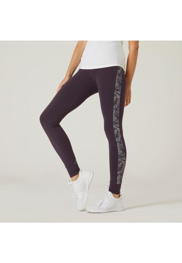 NYAMBA - Legginsy fitness. Kolor: fioletowy. Materiał: włókno, bawełna, materiał. Sport: fitness