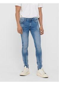 Only & Sons - ONLY & SONS Jeansy Warp 22018252 Niebieski Skinny Fit. Kolor: niebieski