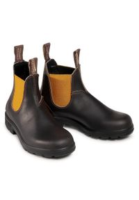 Brązowe buty zimowe Blundstone na obcasie, na średnim obcasie #6